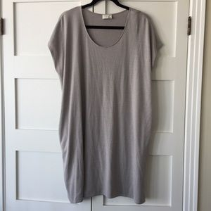 Wilfred taupe short sleeve sweater dress S